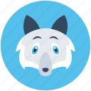 animal, brush wolf, coyote, fox, prairie wolf icon