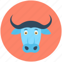 animal, bovine animal, bull, bullock, ox icon