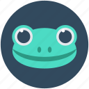 amphibian, animal, chameleon, frog, toad icon