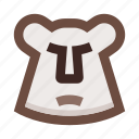 animal, bear, brown, grizzly, face, forest, wild nature