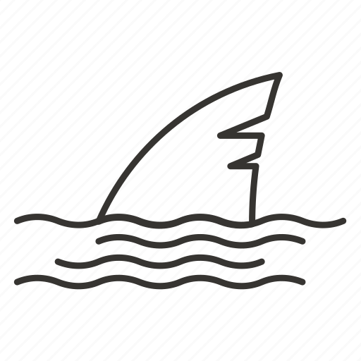 danger, fin, sea, shark, underwater, whale icon