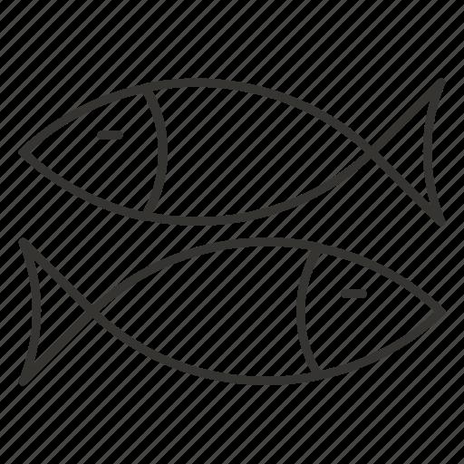 animal, fins, fish, fishing, food, sea icon