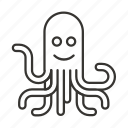 food, ocean, octopus, sea, seafood icon