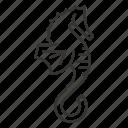 hippocampus, horse, ocean, sea, seahorse icon