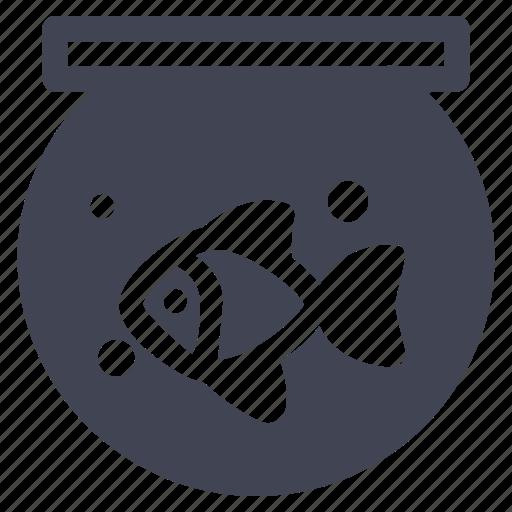animal, animals, bowl, fish, nature, pet icon
