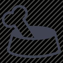 bone, bowl, dog, food, pet icon
