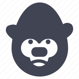 animal, animals, gorilla, monkey, nature icon