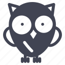 animal, animals, bird, nature, owl icon