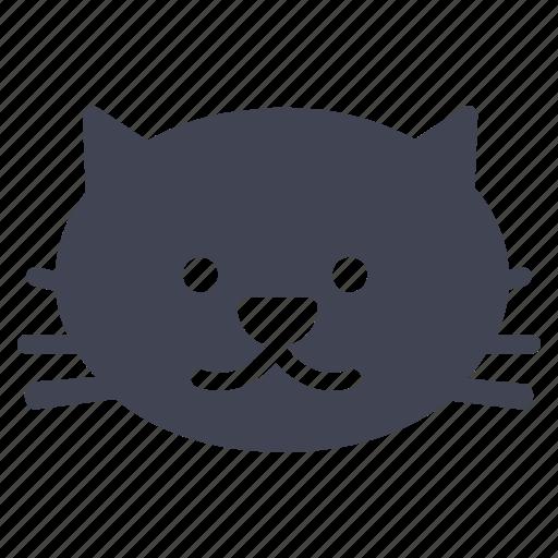animal, animals, cat, pet, smiling icon