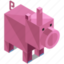 animal, animals, ecology, farm, nature, pig icon