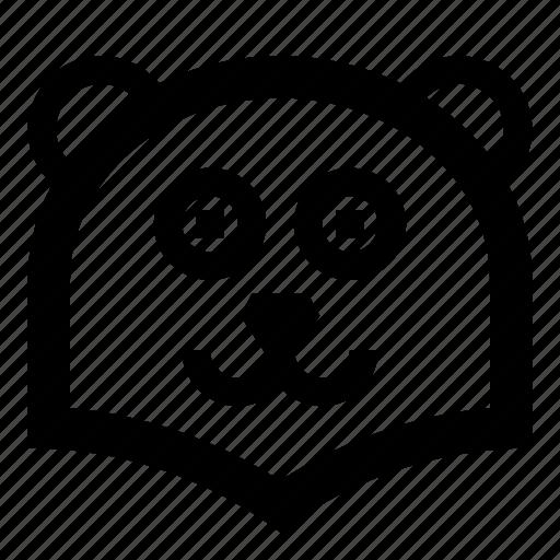 bear, face, smile, wild, zoo icon
