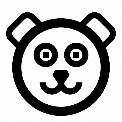 animal, animals, bear, face, happy, smile icon