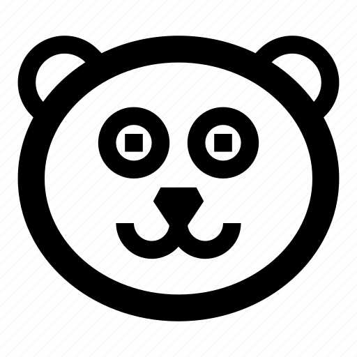 animal, animals, bear, face, happy, smile icon