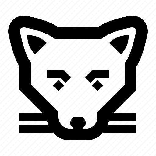 animal, animals, cat, face, fox icon