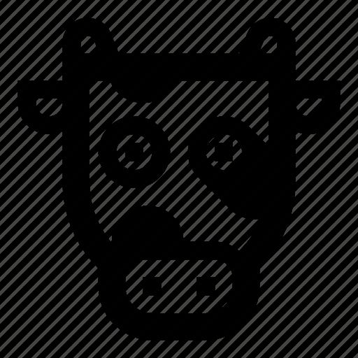animal, animals, cow, face, zoo icon
