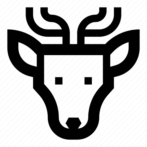 animals, deer, face icon
