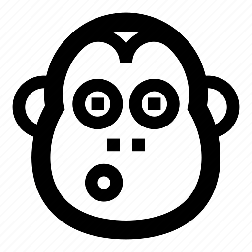animal, animals, banana, face, monkey, primates, zoo icon