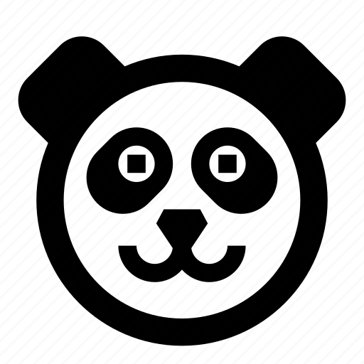 animal, animals, bear, face, panda, zoo icon
