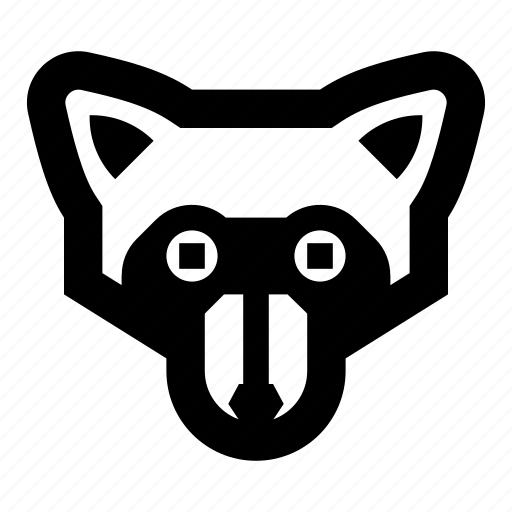 animal, animals, face, raccoon, zoo icon