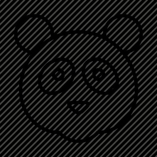 animal, bear, face, panda, zoo icon