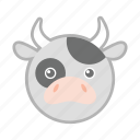cow, farm, milk, nature, pet icon