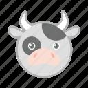 cow, farm, milk, nature, pet icon