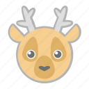 deer, forest, nature, wild icon