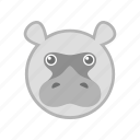 hippo, nature, wild, zoo icon