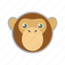 monkey, nature, zoo icon