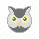 bird, owl, wlid icon