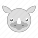 rhino, rhinoceros, wild, zoo icon