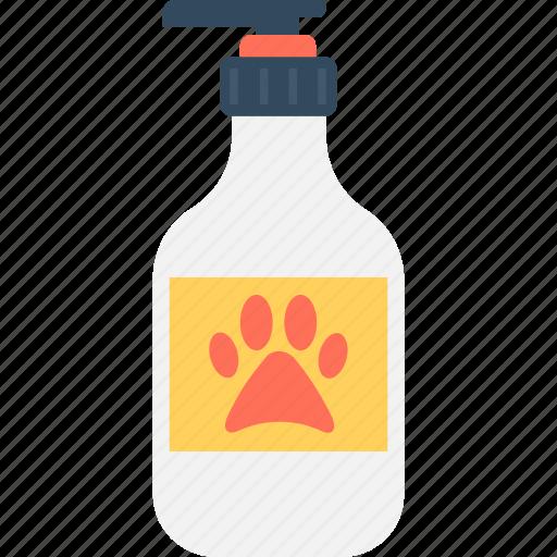 bottle, conditioner, dog lotion, lotion, pet shampoo icon