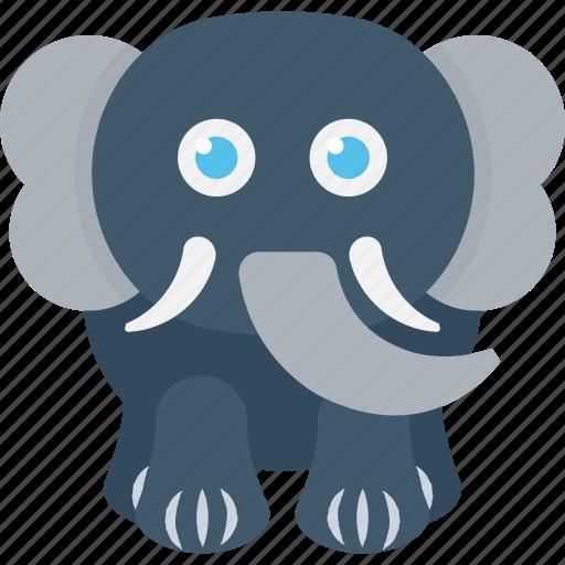 animal, elephant, mammal, pachyderm, zoo icon