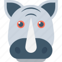 animal, giant animal, rhino, rhinoceros, rhinoceros head icon
