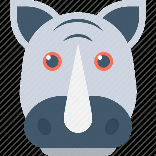 animal, giant animal, rhino, rhinoceros, rhinoceros head icon