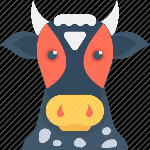 animal, calf, cattle, cow, farm animal icon