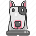 animal, animals, breed, bull terrier, dog, mammal, pet icon