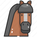 animal, animals, horse, mammal, nature, wildlife, zoo icon