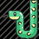 animal kingdom, animals, reptile, snake, wild life, zoo icon