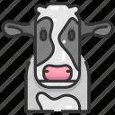 animal kingdom, animals, cow, head, wild life, zoo icon