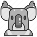 animals, head, koala, mammal, marsupial, wildlife, zoo icon