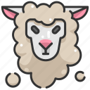animal kingdom, animals, mammal, sheep, wildlife icon