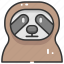 animal kingdom, animals, sloth, wild life, zoo icon