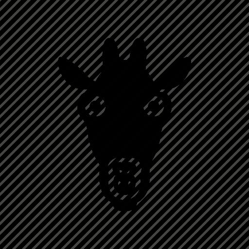 africa, animal, art, giraffe, logo, wildlife icon
