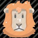 animal kingdom, animals, head, lion, mammal, wild life, zoo icon