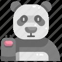 animal, animal kingdom, animals, panda, wildlife, zoo icon