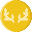 animal, antlers, deer, pet, wild icon