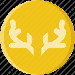 animal, antlers, deer, pet, wild icon