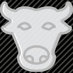 animal, bull, pet, wild icon