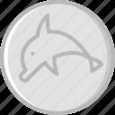 animal, dolphin, pet, wild icon